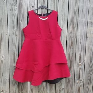 BOGO Eloquii Red Peplum Sleeveless Dress